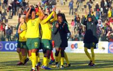 Banyana Banyana players celebrate a victory in the 2018 Cosafa Women's Championship. Picture: @Banyana_Banyana/Twitter