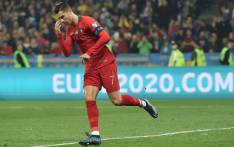 Cristiano Ronaldo scored his 700th career goal in a Euro 2020 Group B qualifier on 14 October 2019. Picture: @UEFAEURO/Twitter.