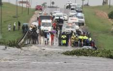 The one-way bridge in Bronkhorstspruit was closed on Monday 9 December 2019 due to flooding. Picture: @CityTshwane/Twitter.