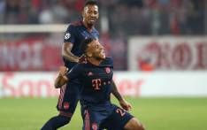 Corentin Tolisso celebrates his goal in match against Olympiakos on 22 October 2019; his first goal since his serious injury in September 2018. Picture: @FCBayernEN/Twitter.
