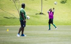Bafana Bafana at Steyn City School Training game ahead of their crucial Afcon qualifier against Nigeria Saturday.Picture: Sethembiso Zulu/EWN