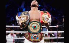 Anthony Joshua's defence of his IBF, WBA, WBO and IBO titles was set to take place at the Tottenham Hotspur Stadium.