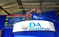 Democratic Alliance (DA) leader Mmusi Maimane campaigning in Potchefstroom, in the North West. Picture: @Our_DA/Twitter.