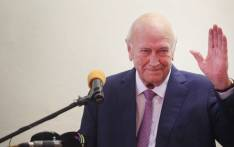 Former President FW de Klerk addressed the Cape Town Press Club after a being out of the public eye for months due to health concerns. Picture: Bertram Malgas