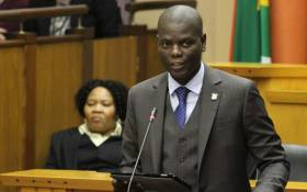 Justice Minister Ronald Lamola tables his budget vote in Parliament on 16 July 2019. Picture: @DOJCD_ZA/Twitter