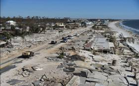 View of the damaged caused by Hurricane Michael in Mexico Beach, Florida, on October 12, 2018. Picture: AFP.