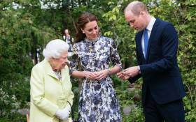 The Duke and Duchess of Cambridge showed the queen some of the activities that those experiencing the #RHSChelsea Back to Nature Garden can enjoy, including reed boat making. Picture:  @KensingtonRoyal /Twitter.