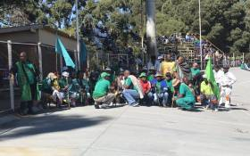 FILE: Striking Amcu members. Picture: @_AMCU/Twitter