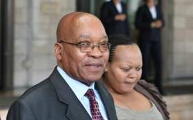 FILE: Former President Jacob Zuma accompanied by his wife MaNtuli exit the Taj Palace Hotel in Mumbai on June 2, 2010. Picture: AFP.