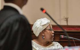 Former SAA board chairperson Dudu Myeni testifying in her delinquency case at the High Court in Pretoria on 20 February 2020. Picture: Sethembiso Zulu/EWN