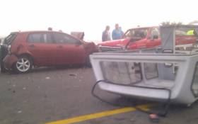 A multi-vehicle accident on 11 August 2011, in Mitchell's Plain, Cape Town. Picture: Mo. Ya'eesh Cader/iWitness