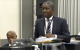 A screengrab of Advocate Vincent Maleka making a presentation at the Zondo Commission on 20 February 2019.