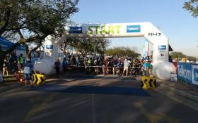 The start of the Telkom 947 MTB Challenge in which Neil van Vuuren took part in started at the Riversands Commercial Park in Fourways on Sunday 11 November 2018. Picture: @Netcare911_sa/Twitter