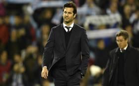 Real Madrid's new head coach Santiago Solari. Picture: @realmadriden/Twitter.