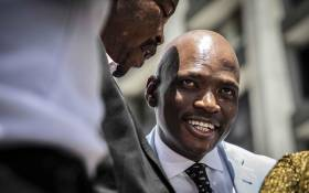 Former SABC COO Hlaudi Motsoeneng at Johannesburg High Court to oppose SABC's decision to withhold his pension fund. Picture: Abigail Javier/EWN