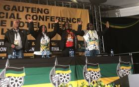 FILE: The Gauteng ANC's leadership from left Parks Tau, Nomantu Nkomo-Ralehoko, Panyaza Lesufi and David Makhura. Picture: EWN.