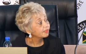 A screengrab of former Eskom board member Venete Klein appearing at the state capture inquiry in Johanneburg on 10 September 2020. Picture: SABC/YouTube