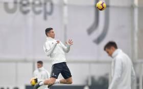 Portugal and Juventus forward Cristiano Ronaldo during a training session. Picture: @Juventus/Facebook.com.