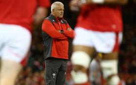 Wales' head coach Warren Gatland watches his team warm-up ahead of the international Test rugby union match between Wales and Ireland at Principality Stadium in Cardiff, south Wales on 31 August 2019. Picture: AFP