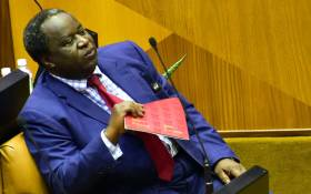 Finance Minister Tito Mboweni prepares to present his 2019 Budget Speech at the Plenary of the National Assembly. Picture: GCIS.