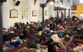Refugees living in Cape Town spent the night at the Central Methodist Mission Church after clashes with police during their removal from the UNHCR's offices on 30 October 2019. Picture: Kayleen Morgan/EWN