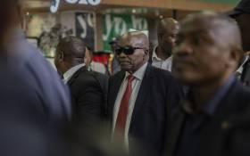 Jacob Zuma arrives at OR Tambo Int. Image credit: Sethembiso Zulu, EWM