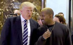FILE: Singer Kanye West and President-elect Donald Trump arrive to speak with the press after their meetings at Trump Tower in 2016 in New York. Picture: AFP.