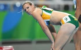 South Africa's Carina Horn competes in the Women's 100m Semifinal during the athletics event at the Rio 2016 Olympic Games at the Olympic Stadium in Rio de Janeiro on August 13, 2016. Picture: AFP.