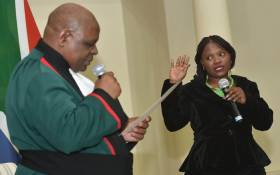 FILE: Deputy Chief Justice Raymond Zondo swearing in the Bavelile Hlongwa as Deputy Minister of Mineral Resources and Energy at Sefako Makgatho Presidential Guesthouse in Pretoria on 30 May 2019. Picture: GCIS