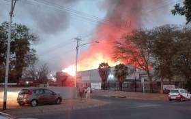A fire broke out at a factory in East Lynne on 19 September 2018. Picture: Supplied