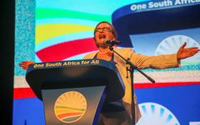 Outgoing Western Cape Premier Helen Zille at the DA's May Day rally ahead of elections on 1 May 2019. Picture: Cindy Archillies/EWN