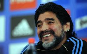 FILE: Argentine football legend Diego Maradona. Picture: Facebook.
