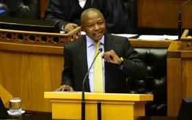 Deputy President David Mabuza addresses parliamentarians during a question and answer session in Parliament on 27 February. Picture: GCIS.