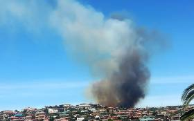 Two houses were destroyed during a fire in Hartenbos Heuwels, near Mossel Bay. Picture: @wo_fire/First Care Wild Fire Services.