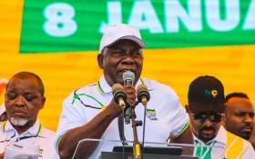 FILE: ANC President Cyril Ramaphosa at the party's 108th birthday celebration in Kimberley on 11 January 2020. Picture: ANC/Twitter