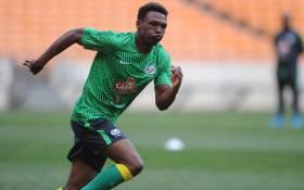 Bafana Bafana striker Lebohang Mothiba in training. Picture:@BafanaBafana/Twitter