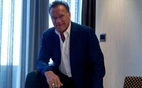 Legendary actor and fitness ambassador Arnold Schwarzenegger speaks to EWN on 17 May 2019. Picture: Kayleen Morgan/EWN