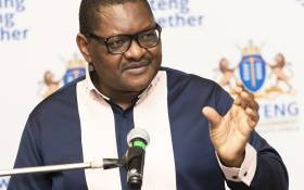 Gauteng Premier David Makhura speaking during a press briefing on 21 May 2020 in Johannesburg on the province's response to the coronavirus pandemic. Picture: @GautengProvince/Twitter.