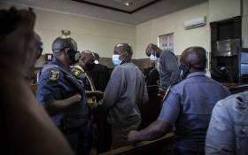 FILE: Sekola Matlaletsa and Sekwetje Mahlamba, the two suspects accused of murdering Brendin Horner, appear at the Senekal Magistrates Court on 16 October 2020. Picture: Abigail Javier/EWN