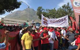 Cosatu's members marched on Parliament on 19 February 2019 amid concerns over potential job cuts at state entities, like Eskom. Picture: Kaylynn Palm/EWN