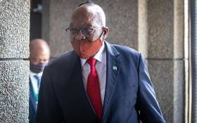 Former President Jacob Zuma arrives at the state capture inquiry in Johannesburg on 17 November 2020. Picture: Abigail Javier/EWN