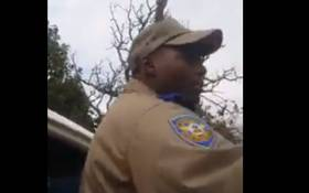 Officer Muzi Buthelezi during an altercation with a motorist. Picture: Facebook video screengrab.