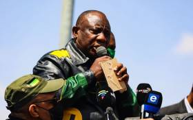ANC president Cyril Ramaphosa in Naledi, Soweto, on Saturday 18 September 2021 to encourage eligible voters to register to vote for the upcoming local government elections. Picture: Athi Geleba/Twitter.