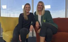 EWN On the Couch host, Cato Louw interviewed Proteas netball player Vanes-Mari Proudfoot about her lifelong journey on the netball court. Picture: Bertram Malgas/EWN