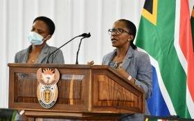 Nurse Mavis Mahlakoane spoke at Mthembu's funeral service in Emalahleni, Mpumalanga on Sunday. Picture: GCIS