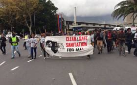 FILE: Around 100 Khayelistha residents, led by the Social Justice Coalition, have gathered at the Civic Centre to put pressure on Cape Town Mayor Patricia de Lille to address sanitation issues in informal settlements. Picture: Natalie Malgas/EWN.