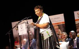 Minister of Basic Education Angie Motshekga announces the national matric results for 2018. Picture: Kayleen Morgan/EWN