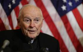 FILE: In this file photo taken on 8 December 2015 then Cardinal Theodore McCarrick, archbishop emeritus of Washington, speaks during a news conference at the US Capitol. Picture: AFP.