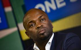 Tshwane Mayor Solly Msimanga briefs the media on the Etolls contract. Picture: Kayleen Morgan/EWN