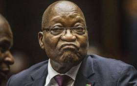 FILE: Former President Jacob Zuma in the Pietermaritzburg High Court where he appeared on corruption charges on 15 October 2019. Picture: AFP.